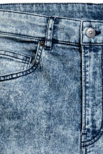Skinny Regular Jeans - Denim blue/Acid - Men | H&M 4